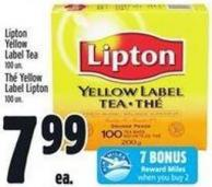 Lipton Yellow Label Tea 100 Un.