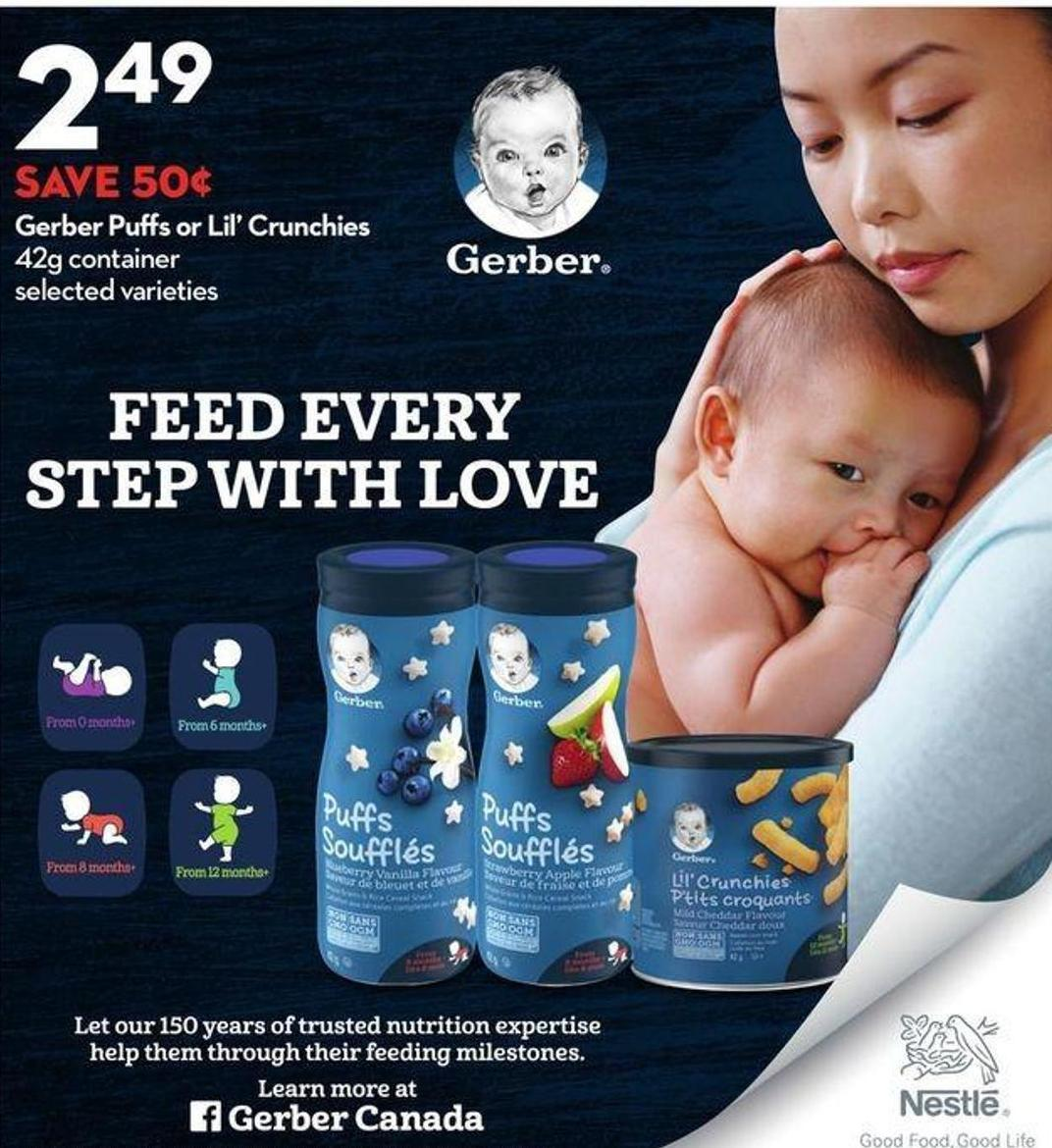 Gerber Puffs or Lil' Crunchies