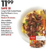 Longo's Fully Cooked Meats Beef Pot Roast In Gravy 550g Pkg