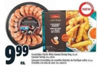 Irresistibles Pacific White Cooked Shrimp Ring 312 g Coconut Shrimp 454 g - Frozen