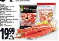 Aqua Star Cooked Shrimp 26 - 30 Size Or Marina Del Rey Raw Wild Argentinian Shrimp 20 - 30 Size - 908 G - 19.99 Ea. Or King Crab 19.99/lb - 4.41/100 G