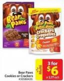 Dare Bear Paws Cookies or Crackers