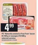 PC Naturally Smoked Or Free From Bacon - 65-500 G Or Sausages - 375/500 G
