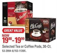Selected Tea or Coffee Pods - 30-ct