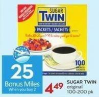 Sugar Twin Original 100-200 Pk - 25 Air Miles Bonus Miles