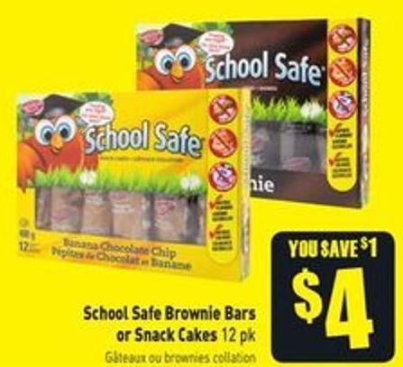 School Safe Brownie Bars or Snack Cakes 12 Pk