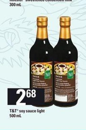T&t Soy Sauce Light - 500 mL