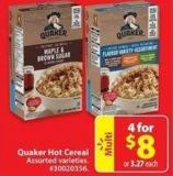 Quaker Hot Cereal
