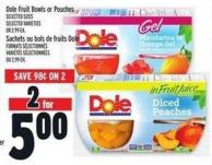 Dole Fruit Bowls Or Pouches
