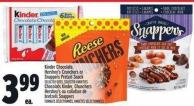 Kinder Chocolate - Hershey's Crunchers Or Snappers Pretzel Snack
