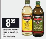 Gallo Olive Oil Extra Virgin Or Extra Light - 1 L