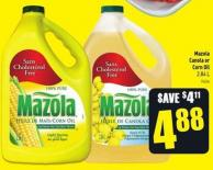 Mazola Canola or Corn Oil 2.84 L