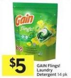 Gain Flings! Laundry Detergent 14 Pk