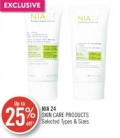 Nia 24 Skin Care Products