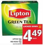 Lipton Tea Or Red Rose Tea Or Selected Varieties