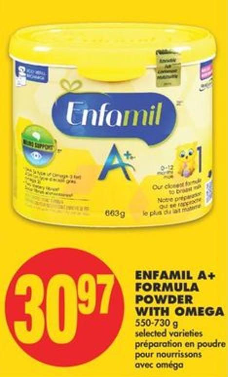 Enfamil A+ Formula Powder With Omega - 550-730 G