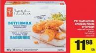 PC Buttermilk Chicken Fillets Or Breast - 750/907 g