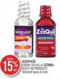 Sleepeze Liquid (355 Ml) or Zzzquil Sleep Aid Products