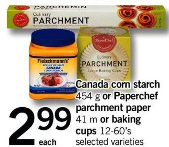 Canada Corn Starch - 454 G Or Paperchef Parchment Paper - 41 M Or Baking Cups - 12-60's