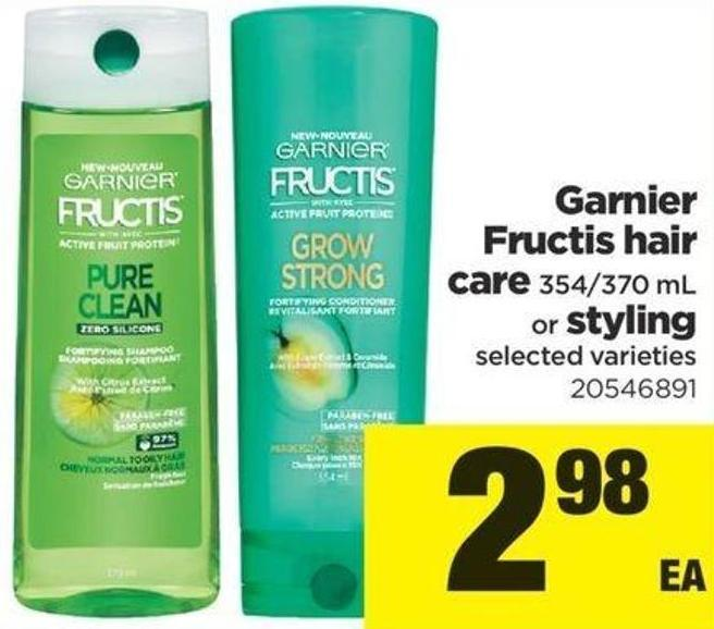 Garnier Fructis Hair Care - 354/370 Ml Or Styling