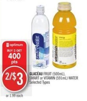 Glac�au Fruit (500ml) - Smart or Vitamin (591ml) Water