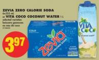 Zevia Zero Calorie Soda 6x355 mL or Vita Coco Coconut Water 1 L