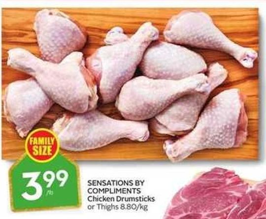 Sensations By Compliments Chicken Drumsticks