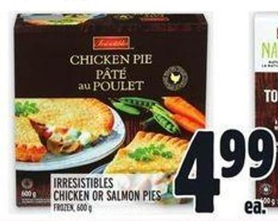 Irresistibles Chicken Or Salmon Pies