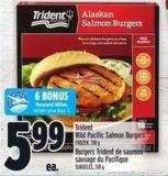 Trident Wild Pacific Salmon Burgers