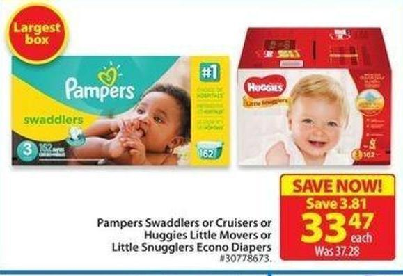 Huggies Little Movers or Little Snugglers Econo Diapers