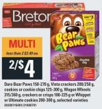 Dare Bear Paws 150-270 G - Vinta Crackers 200/250 G - Cookies Or Cookie Chips 125-300 G - Wagon Wheels 315/360 G - Crackers Or Crisps 100-225 G Or Whippet Or Ultimate Cookies 200-300 G