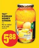 T&t Korean Honey Citron - 1 L