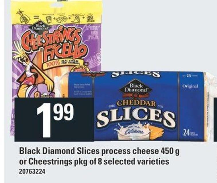 Black Diamond Slices Process Cheese 450 G Or Cheestrings Pkg Of 8