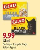 Glad Garbage - Recycle Bags