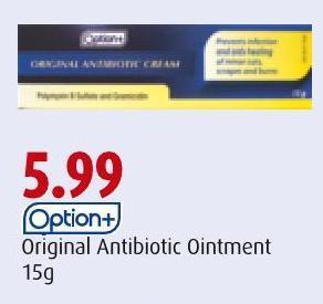 Option+ Original Antibiotic Ointment 15g