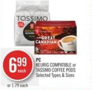 PC Keurig Compatible or Tassimo Coffee PODS