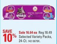 Whiskas Selected Variety Packs - 24-ct