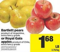 Bartlett Pears Or Royal Gala Apples
