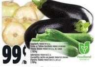 Eggplants Product Of U.S.A. Green Or Yellow Zucchinis Product Of Ontario Vidalia Onions