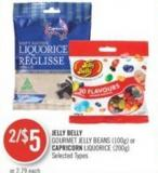 Jelly Belly Gourmet Jelly Beans (100g) or Capricorn Liquorice (200g)
