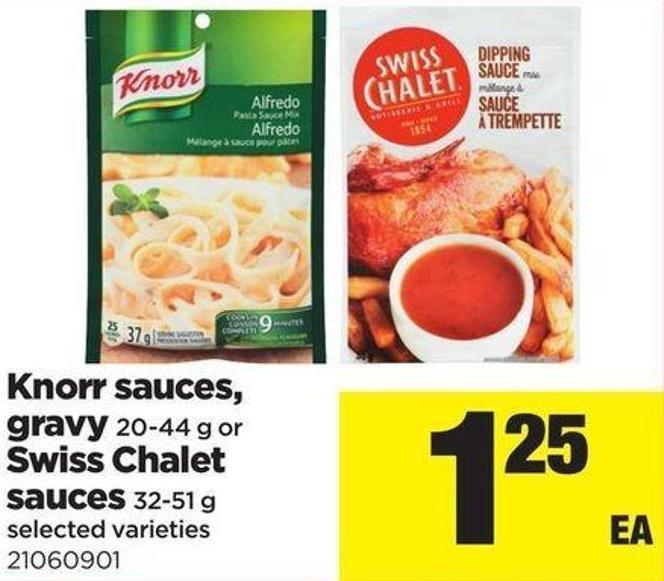 Knorr Sauces - Gravy - 20-44 G Or Swiss Chalet Sauces - 32-51 G
