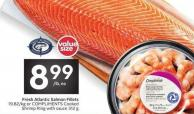 Compliments Fresh Atlantic Salmon Fillets or Compliments Cooked Shrimp Ring With Sauce 312 g