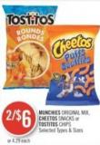 Munchies Original Mix - Cheetos Snacks or Tostitos Chips