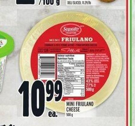 Saputo Mini Friulano Cheese