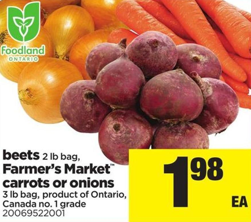 Beets - 2 Lb Bag - Farmer's Market Carrots Or Onions - 3 Lb Bag
