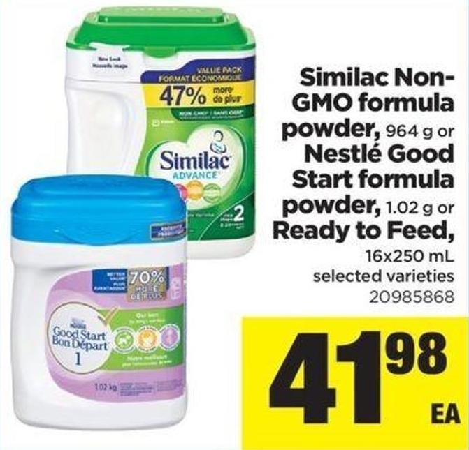 Similac Non- Gmo Formula Powder - 964 G Or Nestlé Good Start Formula Powder - 1.02 G Or Ready To Feed - 16x250 Ml