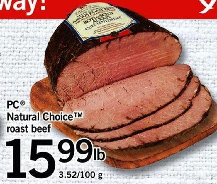 PC Natural Choicetm Roast Beef