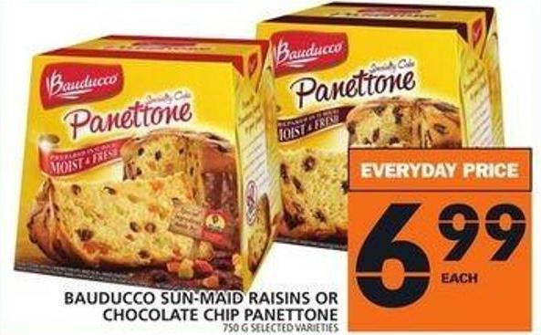 Bauducco Sun-maid Raisins Or Chocolate Chip Panettone