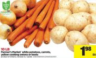 Farmer's Market White Potatoes - Carrots - Yellow Cooking Onions Or Beets - 10 Lb