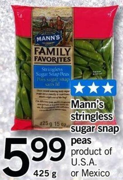 Mann's Stringless Sugar Snap Peas - 425 G